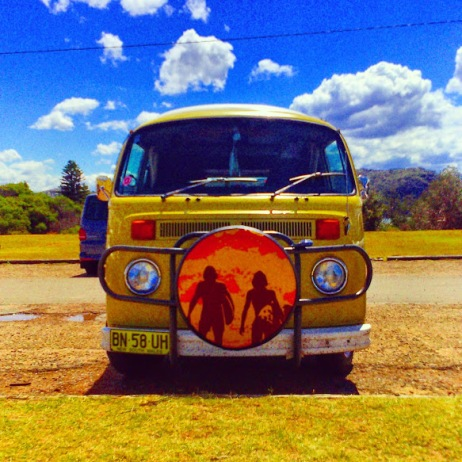 Life is a Beach - VW minivan on Palm Beach - NSW Australia