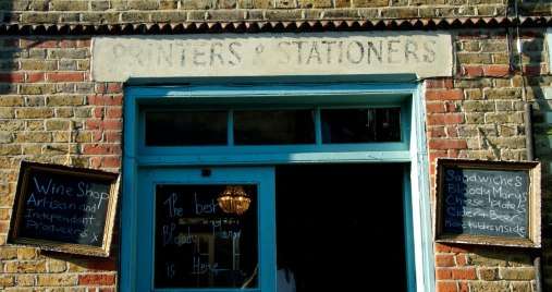 Printers And Stationers wine food London Columbia Road